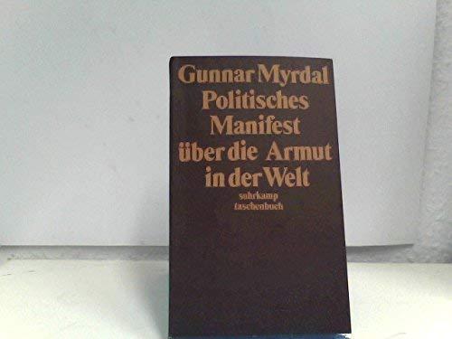 Politisches Manifest über die Armut in der: Myrdal, Gunnar: