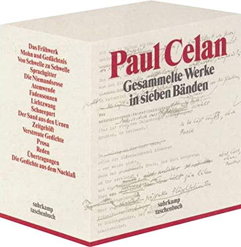 Gesammelte Werke in sieben Bänden: Paul Celan