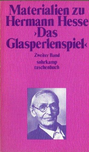 """Materialien zu Hermann Hesse """"Das Glasperlenspiel"""" Band: Hermann Hesse"""