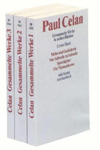 Gedichte, Prosa, Reden, 3 Bde. Celan, Paul