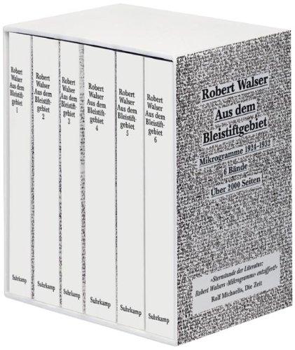 9783518067000: Aus dem Bleistiftgebiet. Ausgabe in sechs Bänden. Mikrogramme 1924 - 1933.