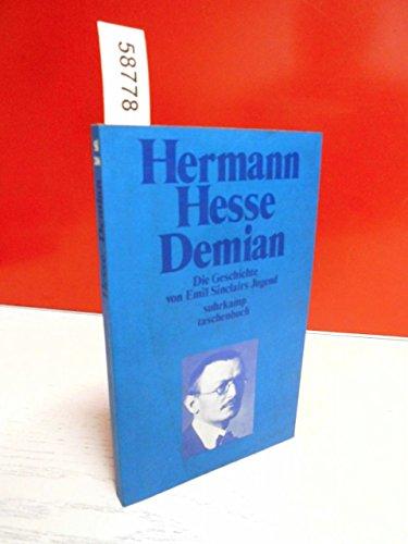 9783518067062: Demian: Die Geschichte von Emil Sinclairs Jugend