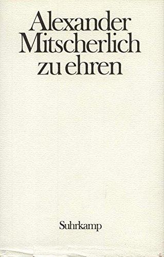 9783518072868: Provokation und Toleranz: Festschrift für Alexander Mitscherlich zum siebzigsten Geburtstag