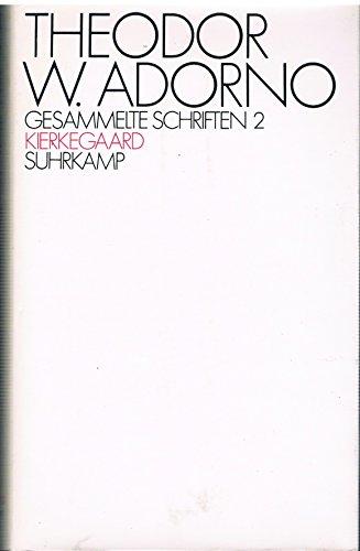9783518074916: Kierkegaard. Konstruktion des Ästhetischen (Gesammelte Schriften, 2)