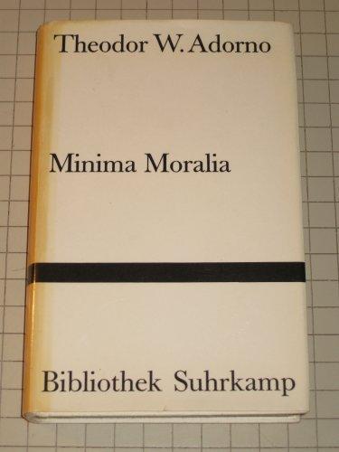 9783518074961: Minima Moralia: Reflexionen aus d. beschädigten Leben (His Gesammelte Schriften ; Bd. 4) (German Edition)