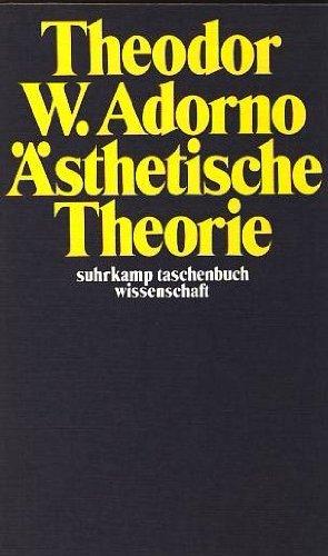 9783518076026: Asthetische Theorie. Herausgegeben Von Gretel Adorno Und Rolf Tiedemann