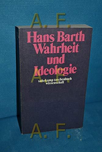 9783518076682: Wahrheit und Ideologie (Suhrkamp Taschenbuch Wissenschaft ; 68) (German Edition)