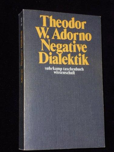 9783518077139: Negative Dialektik.