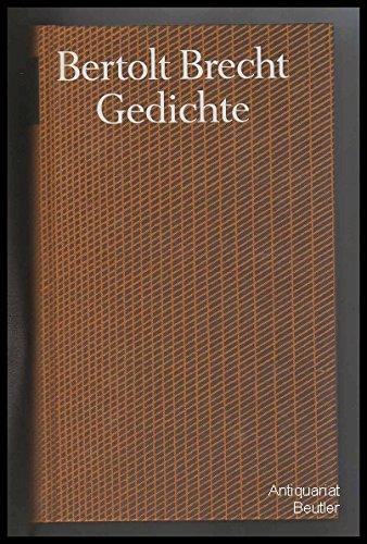 Gedichte Brecht, Bertolt; Hecht, Werner; Knopf, Jan; Mittenzwei, Werner and Müller, ...