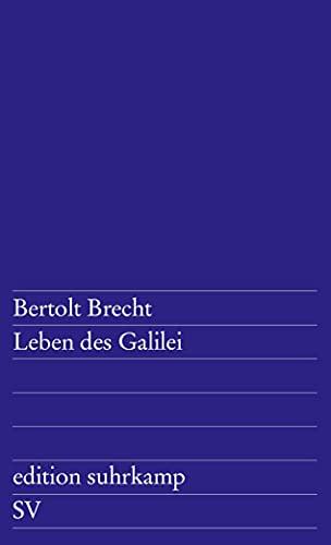 9783518100011: Leben des Galilei: Schauspiel