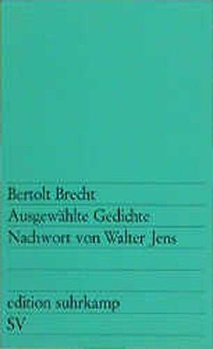 Ausgewahlte Gedichte (Allemand): Brecht