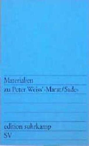 9783518102329: Materialen Zu P. Weiss