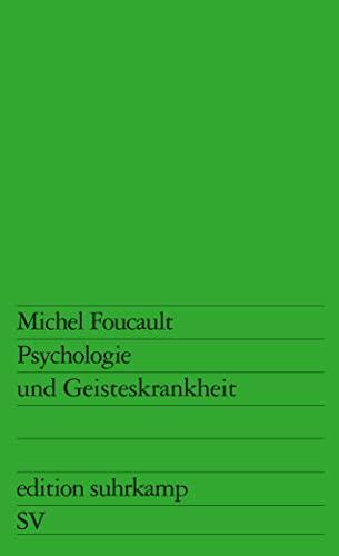 9783518102725: Psychologie und Geisteskrankheit