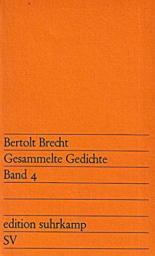 9783518108383: Gesammelte Gedichte IV.