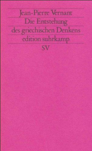9783518111505: Die Entstehung des griechischen Denkens.