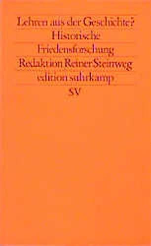 9783518113554: Historische Friedensforschung