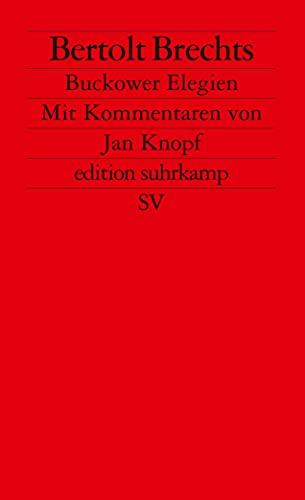 Buckower Elegien (Fiction, Poetry & Drama): Brecht