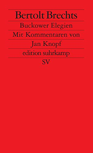 9783518113974: Brechts Bukower Elegien: 1397 (Fiction, Poetry & Drama)