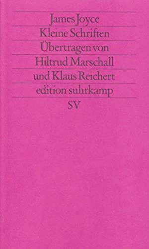 Kleine Schriften: Joyce, James /