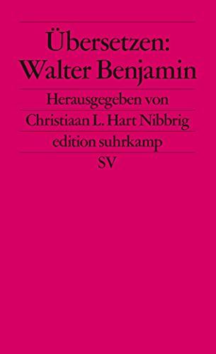 9783518120415: Übersetzen: Walter Benjamin.