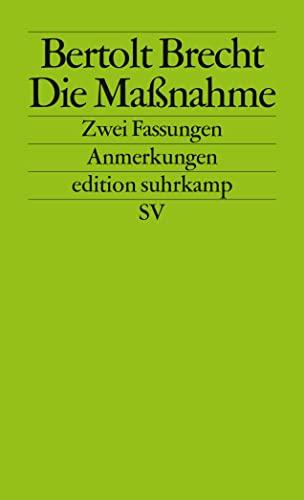 9783518120583: Die Massnahme (German Edition)