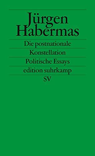 9783518120958: Die postnationale Konstellation. Politische Essays. (German Edition)