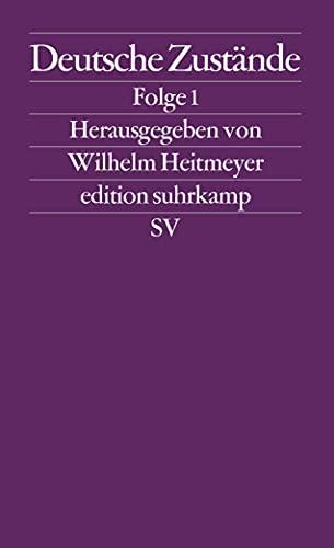 9783518122907: Deutsche Zustände. Folge 1