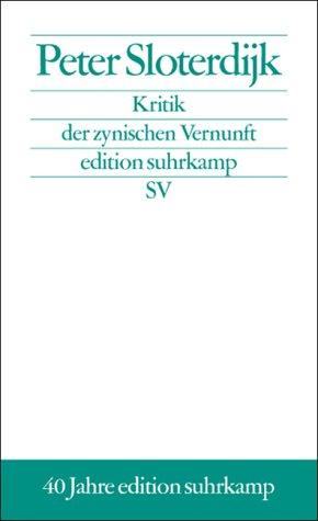 9783518124277: Kritik der zynischen Vernunft. Sonderausgabe.