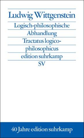 9783518124291: Logisch-philosophische Abhandlung. Tractatus logico-philosophicus
