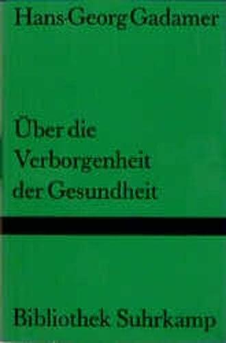 9783518221358: Uber Die Verborgenheit