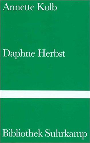 9783518222454: Daphne Herbst.
