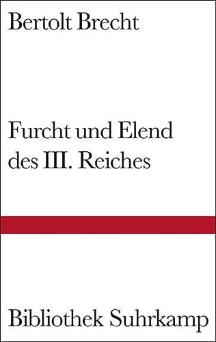 9783518222713: Furcht und Elend des Dritten Reiches