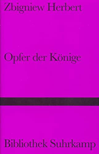 9783518223116: Opfer der Könige: Zwei Essays