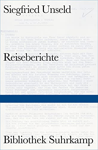 9783518224519: Reiseberichte