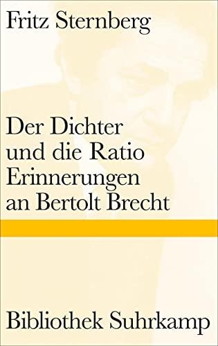 9783518224885: Der Dichter und die Ratio: Erinnerungen an Bertolt Brecht