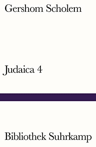 Judaica 4. Hg. v. Rolf Tiedemann,: Scholem, Gershom: