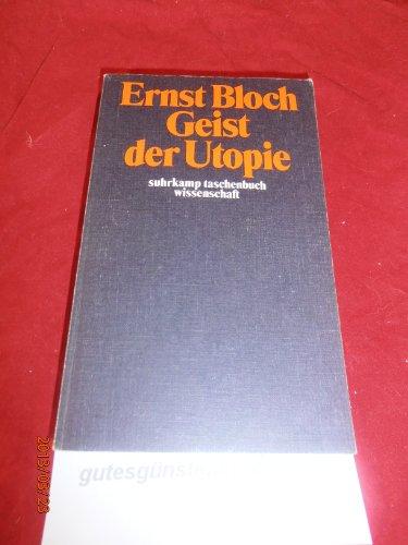 Geist der Utopie: Ernst Bloch