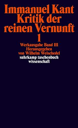 9783518276556: Kritik Der Reinen Vernunft, 2 Bde.