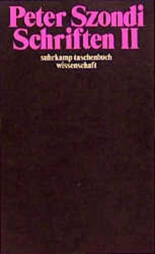 9783518278208: Schriften II.