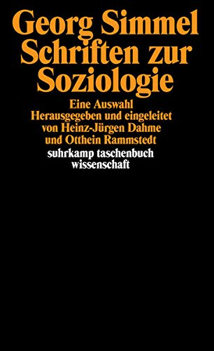 Schriften zur Soziologie. Eine Auswahl.: Simmel, Georg