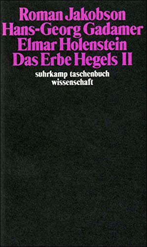 Das Erbe Hegels (II) (Paperback): Roman Jakobson, Hans-Georg