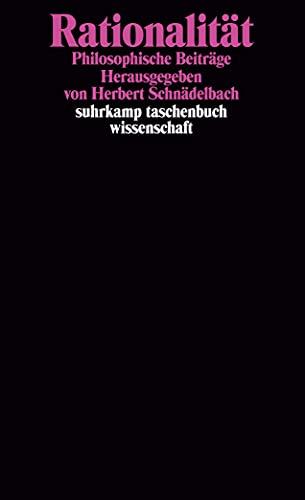 9783518280492: Rationalit�t: Philosophische Beitr�ge