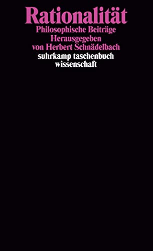 9783518280492: Rationalitat: Philosophische Beitrage (Suhrkamp Taschenbuch Wissenschaft) (German Edition)