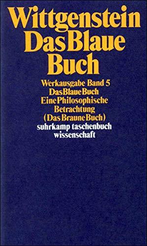 9783518281055: Das Blaue Buch: Eine Philosophische Betrachtung. (Das Braune Buch)