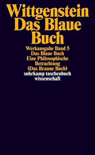 9783518281055: Das Blaue Buch. Eine Philosophische Betrachtung. ( Das Braune Buch).