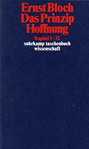 DAS PRINZIP HOFFNUNG (3 Baende) (Werkausgabe Bd. 5, STW 554): Bloch, Ernst