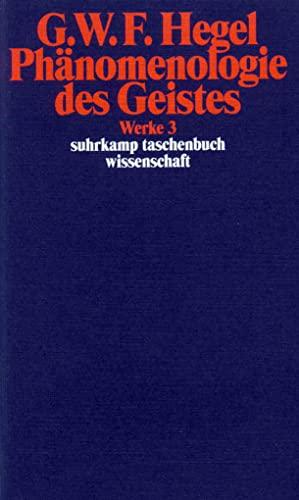 9783518282038: Phanomenologie des Geistes (G. W. F. Hegel Werke) (German Edition)
