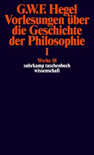 9783518282182: Virlesungen Uber Die Geschichte Der Philosophie; Tl.1