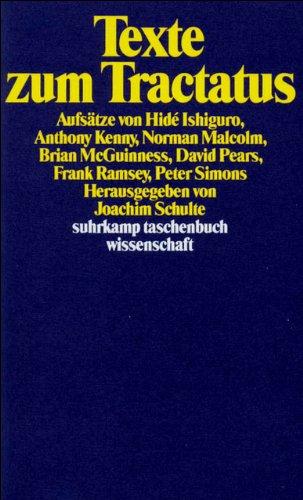 9783518283714: Texte zum Tractatus