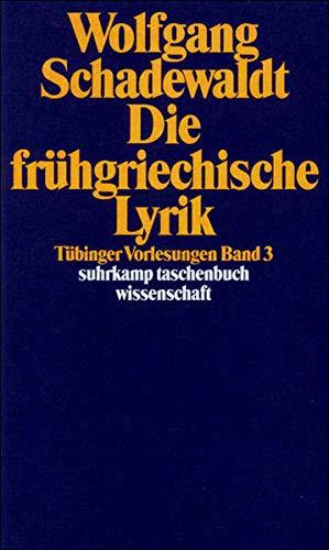 9783518283837: Die fr�hgriechische Lyrik.